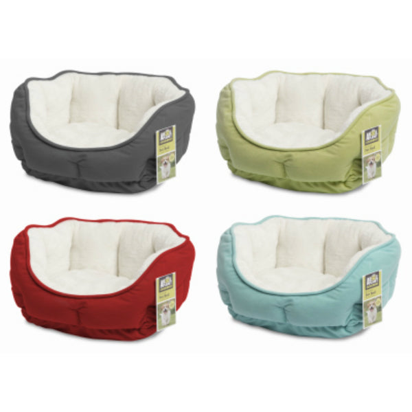 Animal Planet™ 2301169 Brushed Plush Pet Bed, Assorted Colors, Small, 1-Qty
