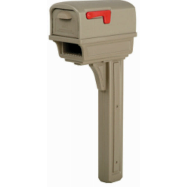 Gibraltar GGC1M0000 Gentry Combo Mailbox with News Holder, Mocha