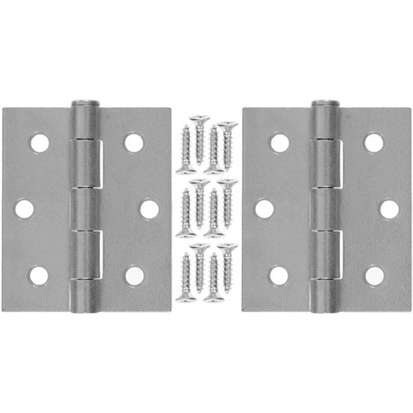 "Wright Products™ V35GAL Steel Square Door Hinges, Galvanized, 3"", 2-Pack"