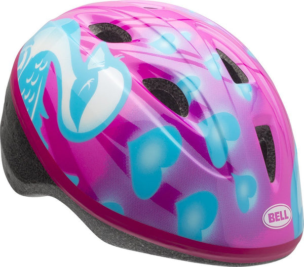 Bell® 7073339 Toddler Girl's Zoomer™ Bicycle Helmet, Pink & Blue Downy