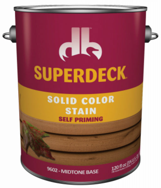 Superdeck® SC0054024-16 Solid Color Deck & Dock Stain, Midtone Base, 1 Gal