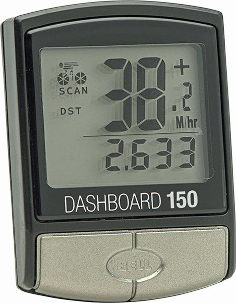 Bell® 7070593 Dashboard 150 Easy-to-Use Wired Bicycle Computer, 14 Functions