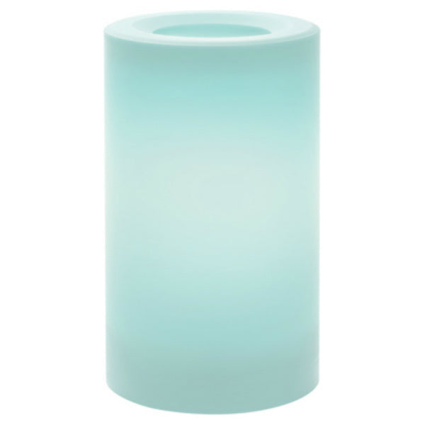"Inglow® CGT20305MB Flameless Outdoor Candle, Misty Blue, 3"" x 5"""