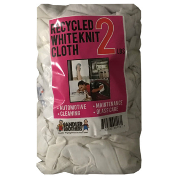 Sandler Brothers 241002 Recycled Knit Cloths, White, 2 Lb