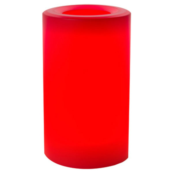 "Inglow® CGT20305RA Flameless Outdoor Candle, Raspberry Color, 3"" x 5"""