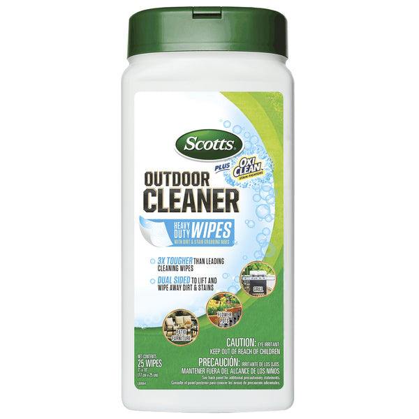 Scotts® 51601 Outdoor Cleaner Plus OxiClean™ Heavy Duty Wipes, 25-Count