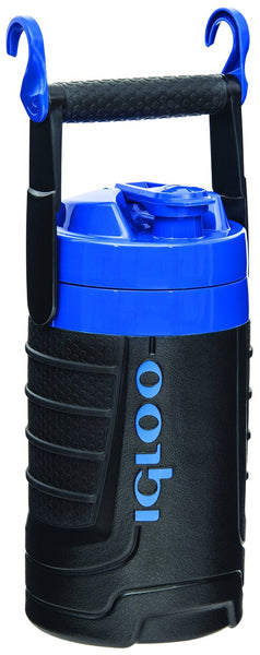 Igloo® 41880 Proformance™ Insulated Water Jug with Hooks, Black/Blue, 1/2 Gallon