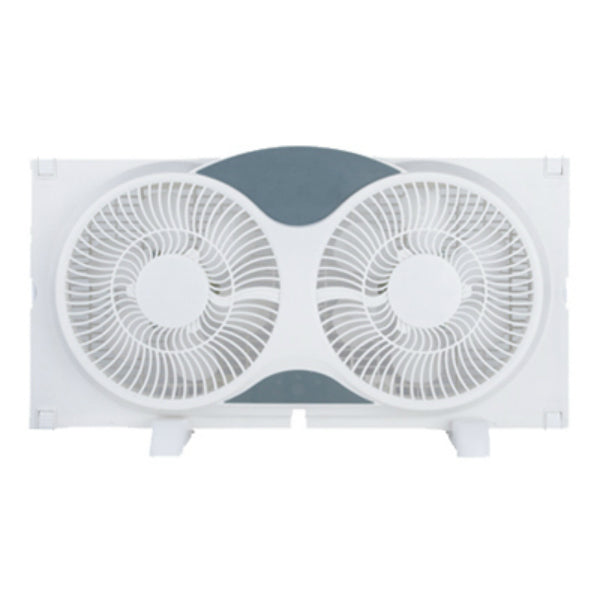 Westpointe WF-008R Twin Window Fan, 3-Speed, 9""
