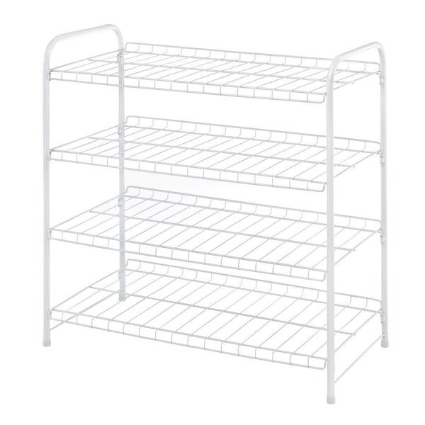 "Whitmor 6023-4139-CB White Wire Collection 4-Tier Closet Shelf, 22.75"" x 23.75"""