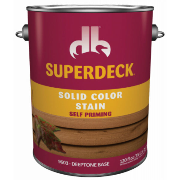 Superdeck® SC0054044-16 Solid Color Deck & Dock Stain, Deeptone Base, 1 Gal