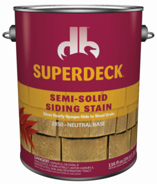 Superdeck® DPI053054-16 Semi-Solid Cool Feel Stain, Neutral Base, 1 Gal