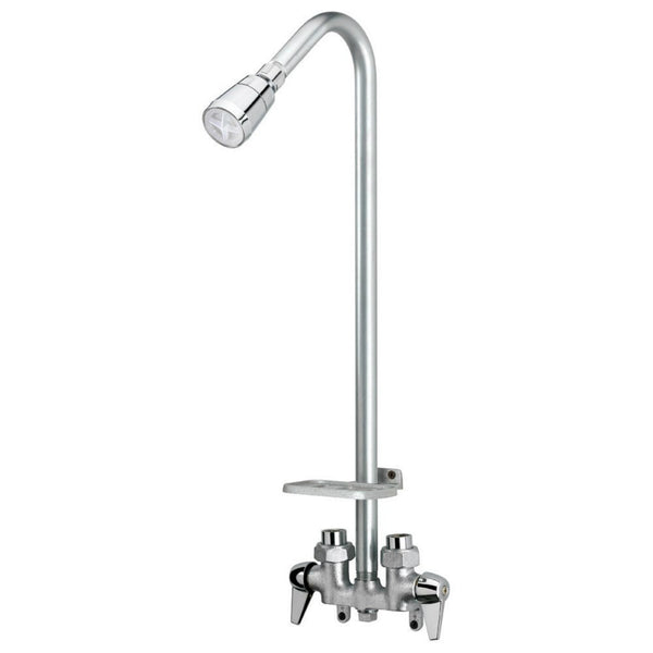 BayPointe 3070-250-CH-B-WS Brass Body Base Utility Shower Faucet, Chrome