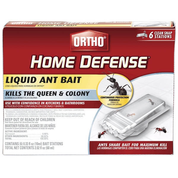 Ortho® 0464812 Home Defense® Ready-To-Use Liquid Ant Bait, 6 Pack