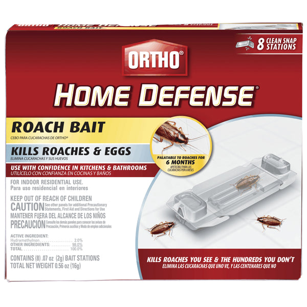 Ortho® 0464912 Home Defense® Ready-To-Use Roach Bait, 8 Pack