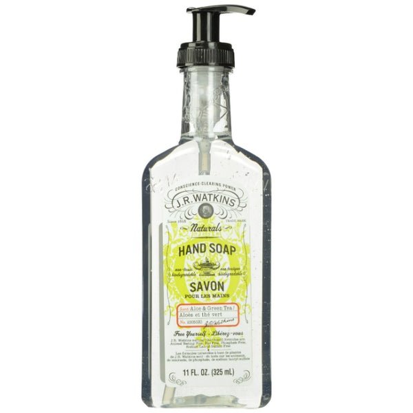 J.R.Watkins® 23050 Naturals Liquid Hand Soap, Aloe & Green Tea, 11 Oz
