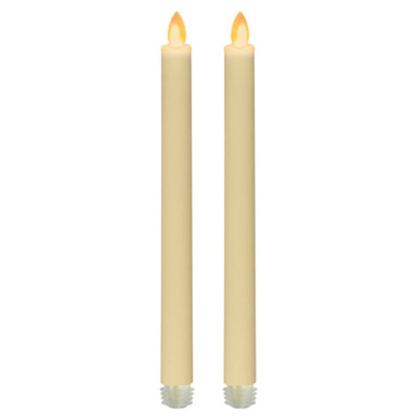 "Iflicker IGFT11779CR2 Flameless LED Taper Candle, 9"", 2-Pack"