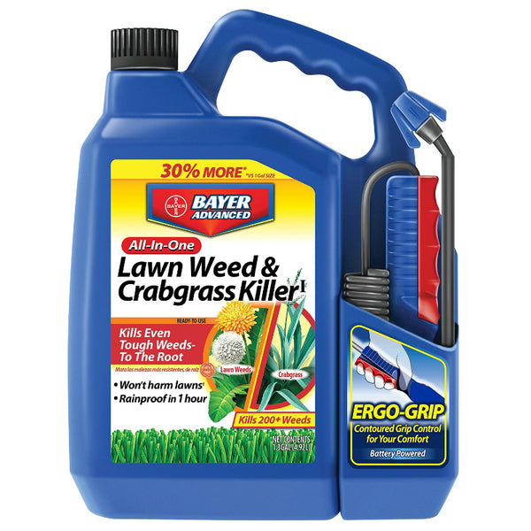 Bayer Advanced 704138A All-In-One Lawn Weed & Crabgrass Killer, 1.3 Gallon