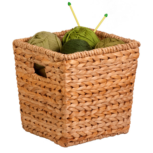 Honey-Can-Do STO-02886 Nesting Water Hyacinth Basket, Natural Brown, Medium