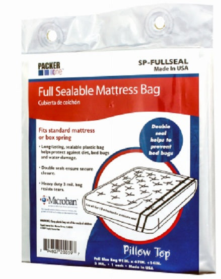 "Packer One™ SP-FULLSEAL Full Sealable Microban Mattress Bag, 91"" x 54 x 10"""