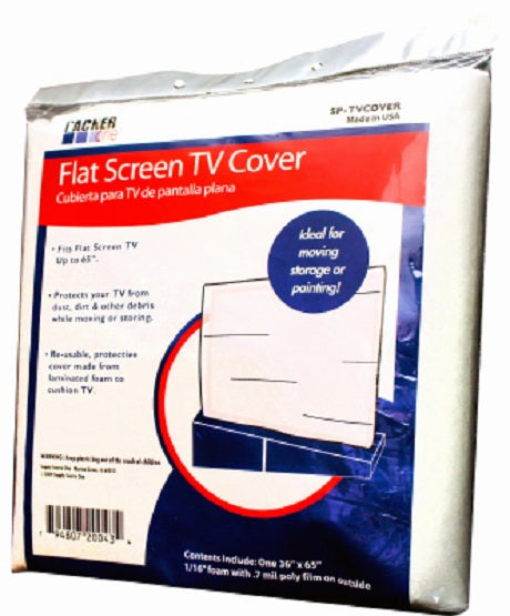 Packer One SP-TVCOVER Foam Flat Screen Television Cover, Up To 65""