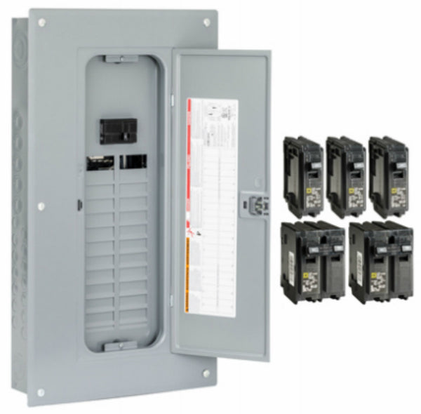 Square D™ HOM2448M100PCVP Homeline™ Indoor Convertible Main Breaker Load Center, 100A