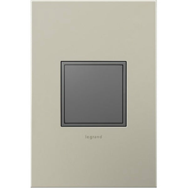 Legrand® ARPTR151GM2 Adorne® Pop-Out™ Magnesium Outlet, 1-Gang, 15 Amp