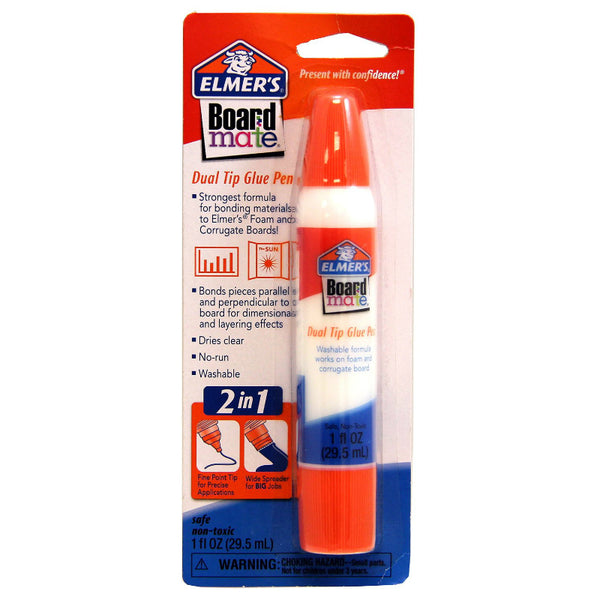 Elmer's® E140 Board Mate® Dual Tip 2-In-1 Applicator Glue Pen, 1 Oz