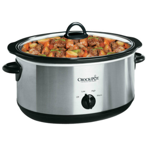 Crock-Pot® SCV700-SS Oval Manual Slow Cooker, Silver, 7-Quart