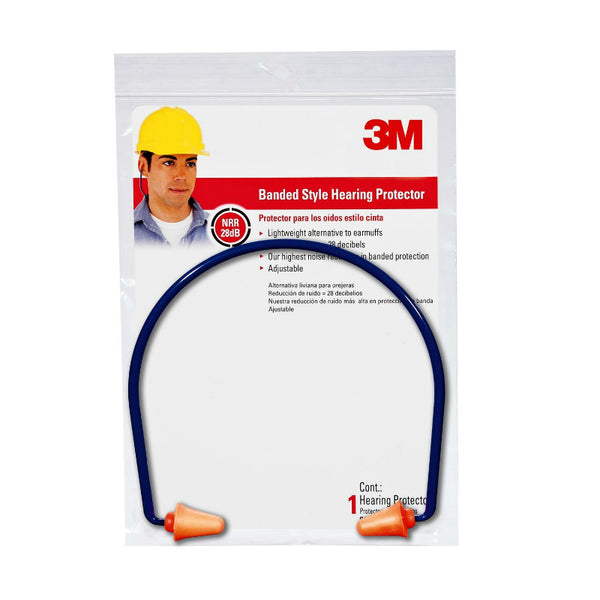 3M™ 90537-6DC Banded Style Hearing Protector, Orange‎, 28 Decibel‎