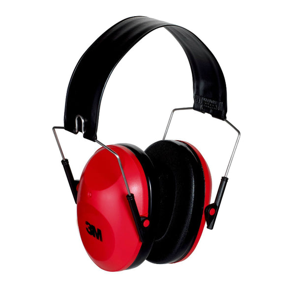 3M™ 90560-4C Safety Low-Profile Earmuff, Red, 21 Decibel