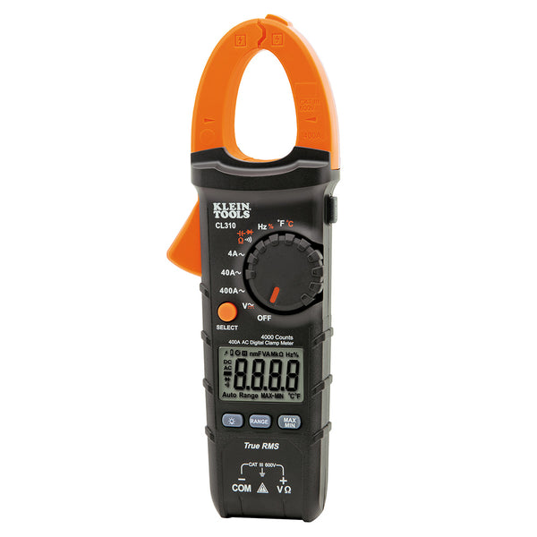 Klein Tools® CL310 AC Auto Ranging Digital Clamp Meter, 400A, 600V