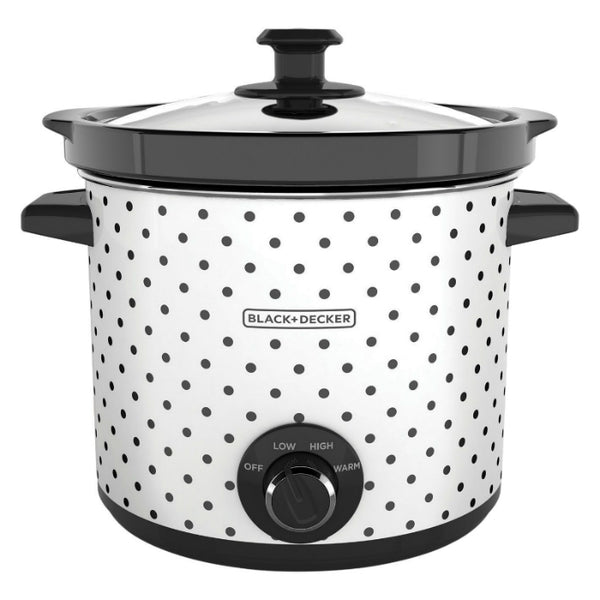 Black & Decker® SC1004D Classic-Slow Cooker, 3-Heat Settings, White, 4 Qt