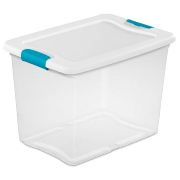 Sterilite® 14958006 Storage Box with Ergonomic Blue Latches, 25 Qt
