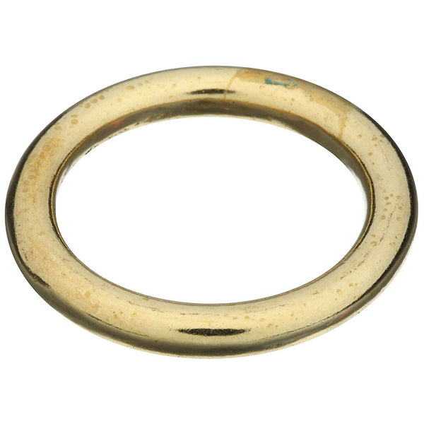 National Hardware® N258-715 Solid Brass Ring for Rope/Chain & Strap, 1-1/8""