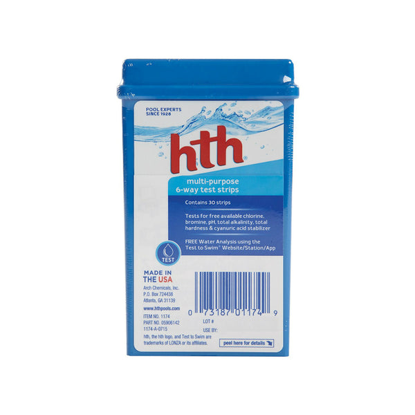 HTH® 1174 Multi-Purpose 6-Way Test Strips with 30 Kits