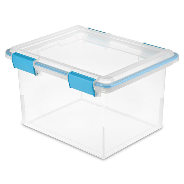Sterilite® 19334304 Gasket Box with Tight-Fitting Latches, 32 Qt