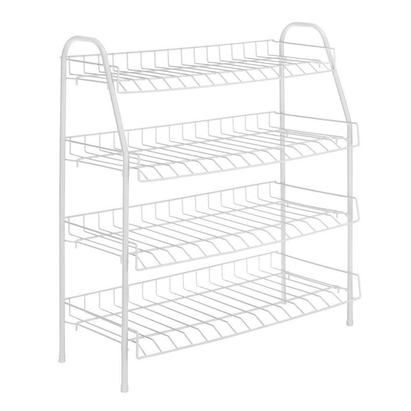 "Whitmor 6023-211 White Wire Collection 4-Tier Closet Shelf, 25"" x 27.88"""
