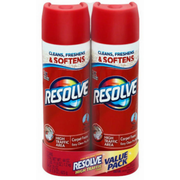 Resolve® 1920084648 High Traffic Carpet Cleaner Foam,  22 Oz, 2 Pack