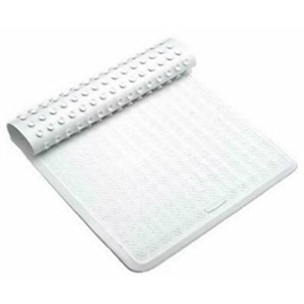 "Rubbermaid® 1982726 Antibacterial Large Bath Mat, Off White, 16"" x 28"""