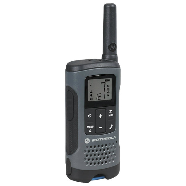 Motorola T200 Talkabout FRS/GMRS Two-Way Radio w/ 22 channels, Dark Gray
