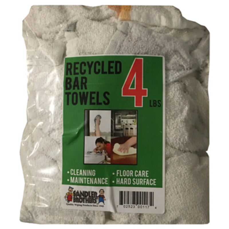 Sandler Brothers 216004 Recycled Bar Towels, 4 Lbs