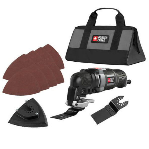 Porter-Cable® PCE606K Oscillating Multi-Tool Kit w/ 3 Amp Motor, 10000-22000 OPM
