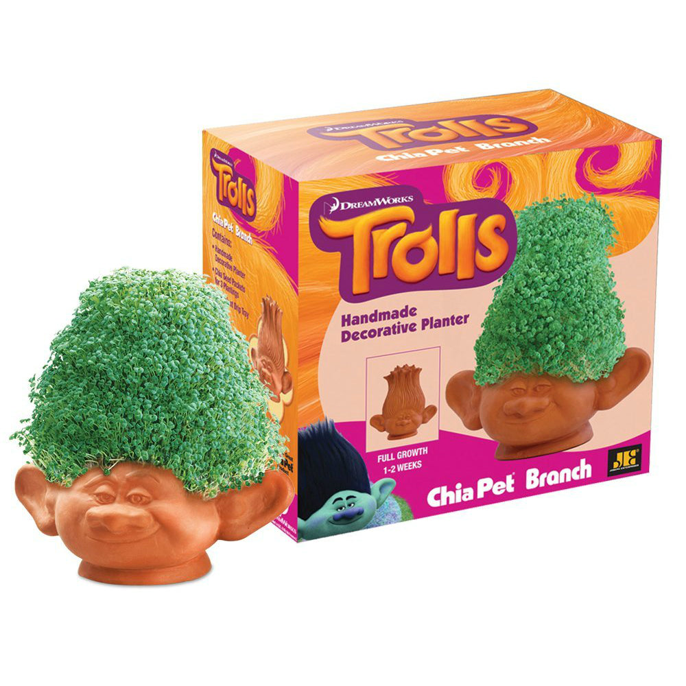 Chia Pets CP241-16 Trolls Handmade Branch Decorative Clay Planter
