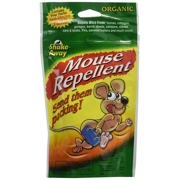Shake-Away® 4152424 Organic Mouse Repellent Packs, Ready-To-Use, 4-Pack