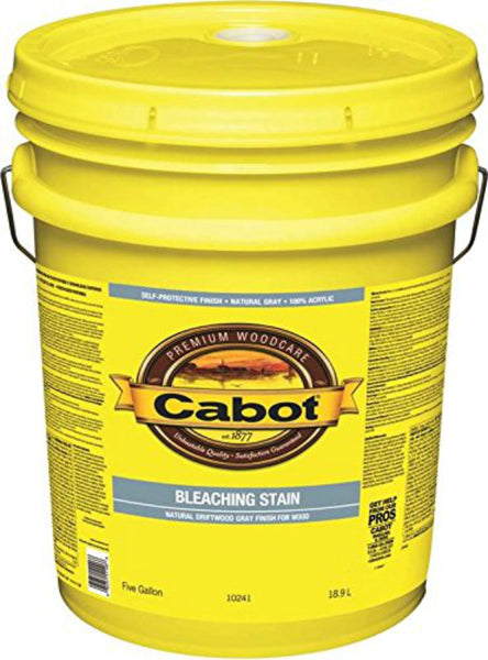 Cabot® 10241-08 Natural Driftwood Bleaching Stain, Natural Gray, 5 Gallon