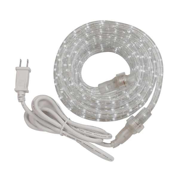 AmerTac™ RWLED12BCC Indoor/Outdoor LED Rope Light Kit with PVC Tubing, 12'