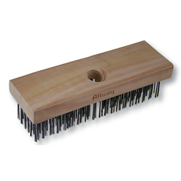 Allway Tools® WB619 Carbon Steel Wire Brush with Wood Handle, 6 x 19 Rows