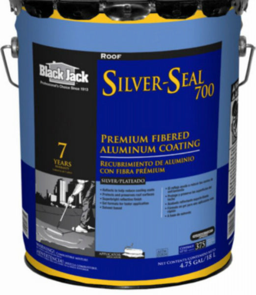 Black Jack 5177-A-30 Silver Seal 700 Premium Fibered Aluminum Coating, 4.75 Gal