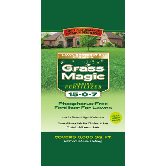 Grass Magic® ETFR1518 Premium Specialty Organic Fertilizer, 30 Lbs