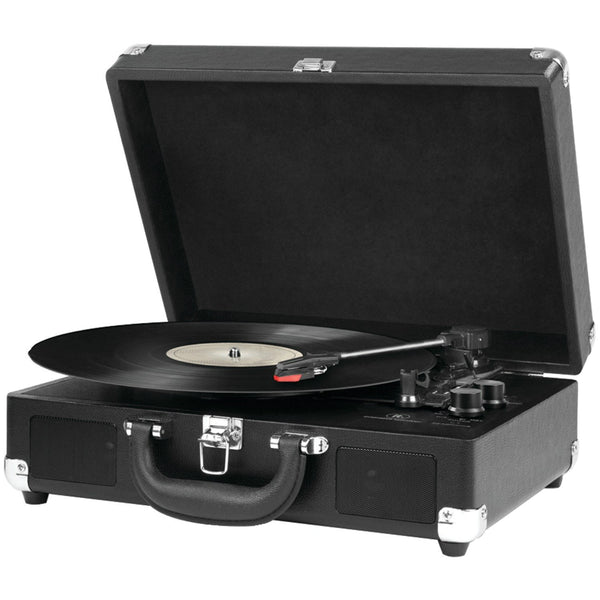 Innovative Technology VSC-550BT-BK Vintage 3-Speed Suitcase Turntable w/Bluetooth
